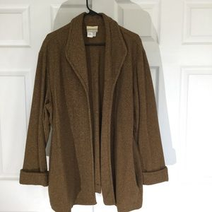 Cold water Creek tweed coat